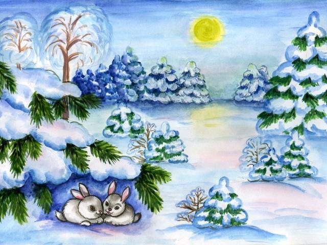 Красивый рисунок карандашом зимы (19)