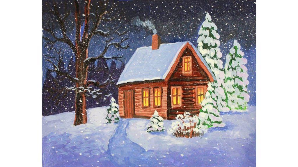 Красивый рисунок карандашом зимы (21)