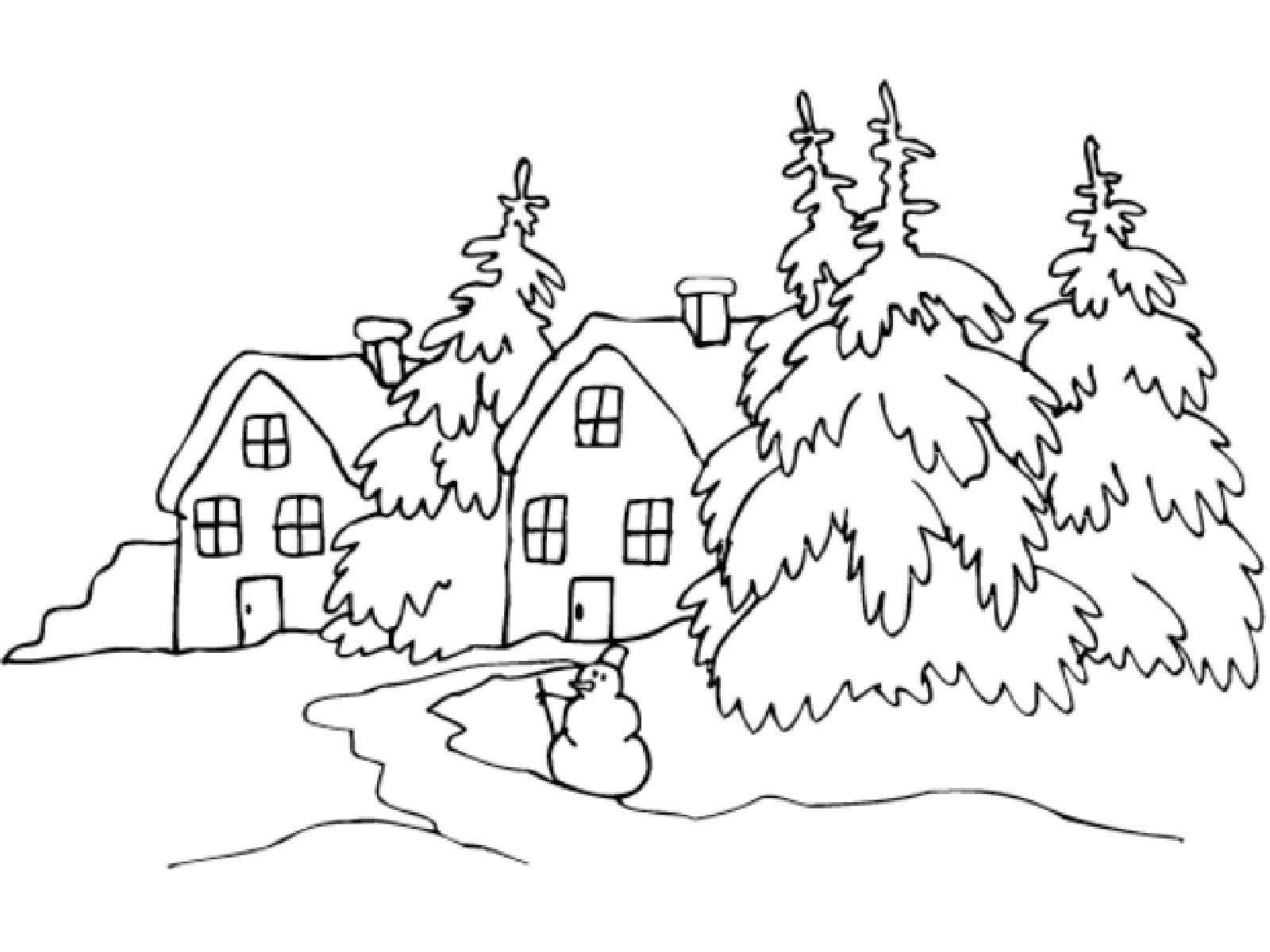 Красивый рисунок карандашом зимы (22)