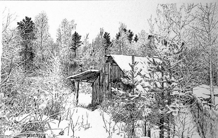 Красивый рисунок карандашом зимы (23)