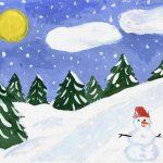 Красивый рисунок карандашом зимы