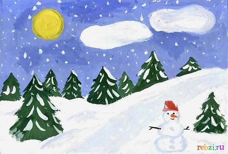 Красивый рисунок карандашом зимы (26)