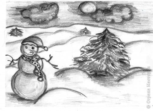 Красивый рисунок карандашом зимы (6)