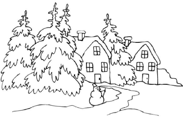 Красивый рисунок карандашом зимы (9)