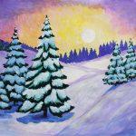 Красивый рисунок красота зимы