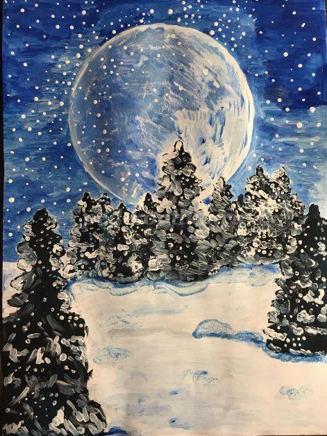Красивый рисунок красота зимы (7)