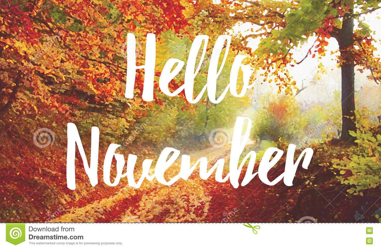 Привет ноябрь картинки (15)