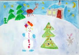 Рисунки зимы для детей 2 класса (13)