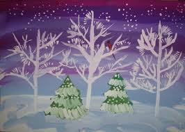 Рисунки зимы для детей 2 класса (14)
