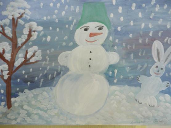 Рисунки зимы для детей 2 класса (21)