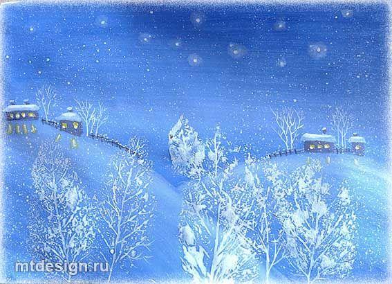 Рисунки зимы для детей 2 класса (4)