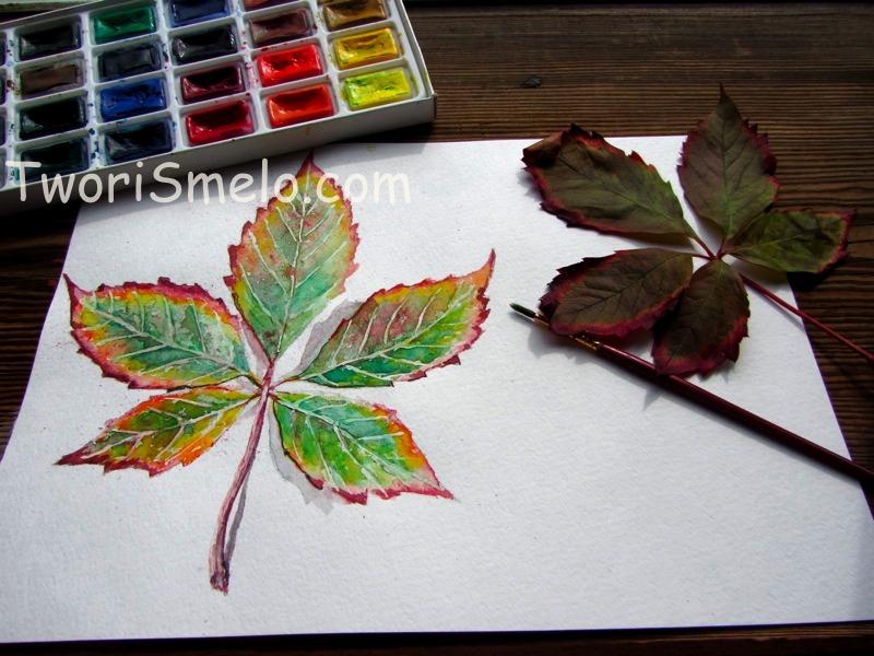 Рисунки как нарисовать осенний лист карандашом (2)