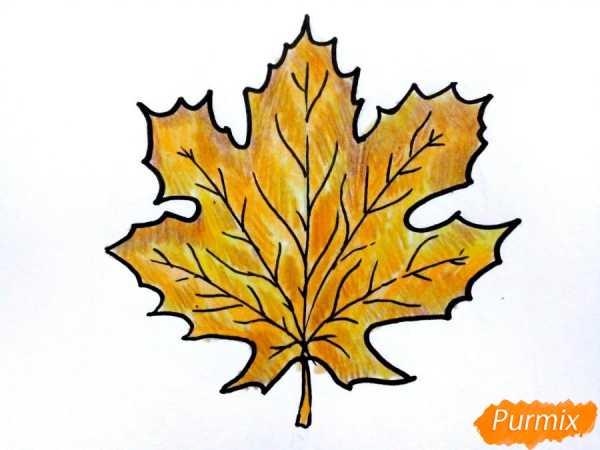 Рисунки как нарисовать осенний лист карандашом (22)