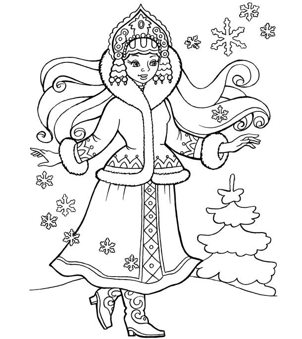 Дед Мороз и Снегурочка красивые рисунки (1)