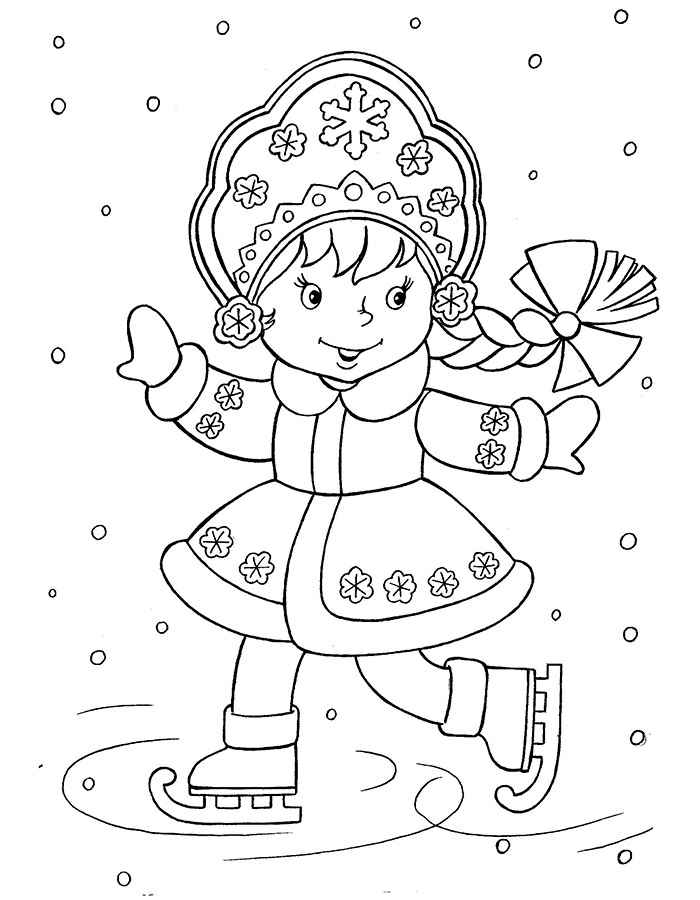 Дед Мороз и Снегурочка красивые рисунки (16)