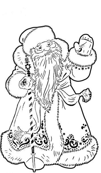Дед Мороз и Снегурочка красивые рисунки (18)