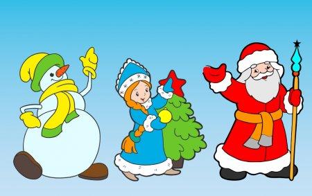 Дед Мороз и Снегурочка красивые рисунки (21)
