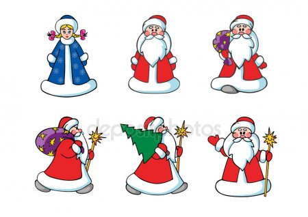 Дед Мороз и Снегурочка красивые рисунки (22)