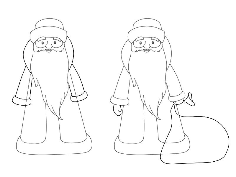Дед Мороз и Снегурочка красивые рисунки (3)