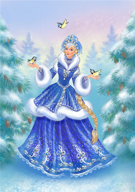 Дед Мороз и Снегурочка красивые рисунки (30)