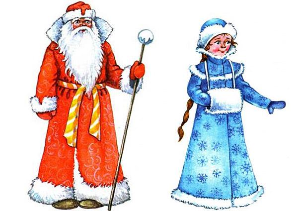 Дед Мороз и Снегурочка красивые рисунки (5)