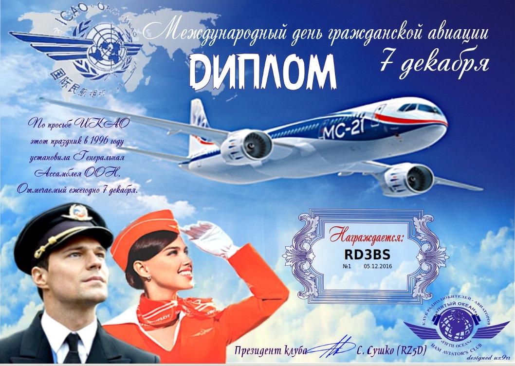 Открытки с международным днем гражданской авиации