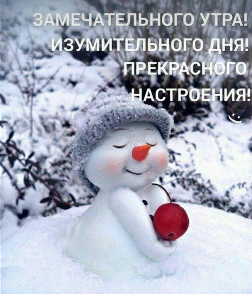 Красивые зимние картинки доброе утро (14)