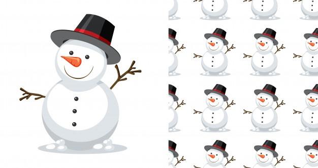 Красивые и милые рисунки снеговиков (10)