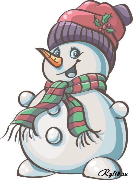 Красивые и милые рисунки снеговиков (11)