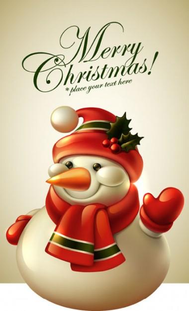 Красивые и милые рисунки снеговиков (12)