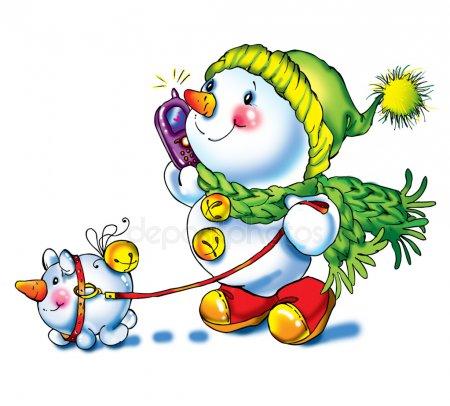 Красивые и милые рисунки снеговиков (14)
