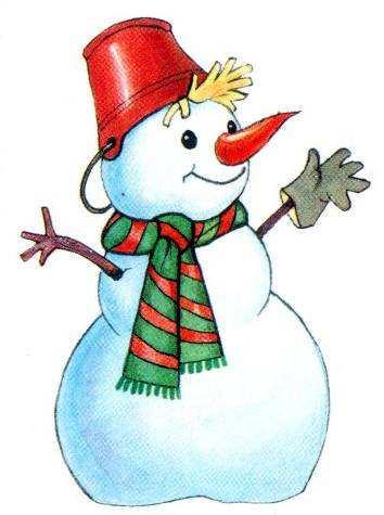 Красивые и милые рисунки снеговиков (16)