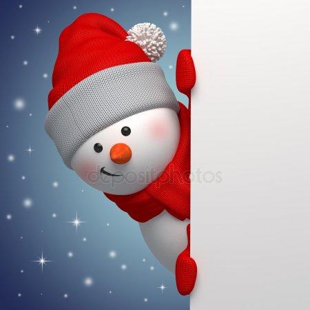 Красивые и милые рисунки снеговиков (17)