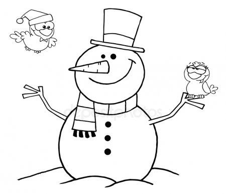 Красивые и милые рисунки снеговиков (18)