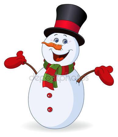 Красивые и милые рисунки снеговиков (19)