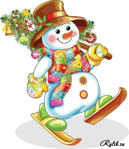 Красивые и милые рисунки снеговиков (2)