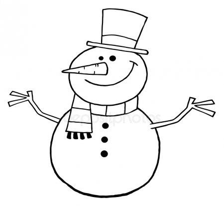 Красивые и милые рисунки снеговиков (20)