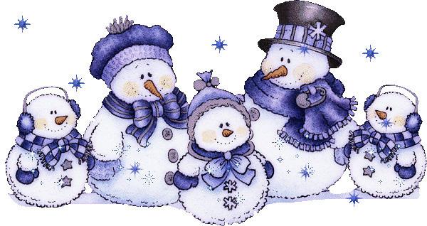 Красивые и милые рисунки снеговиков (22)