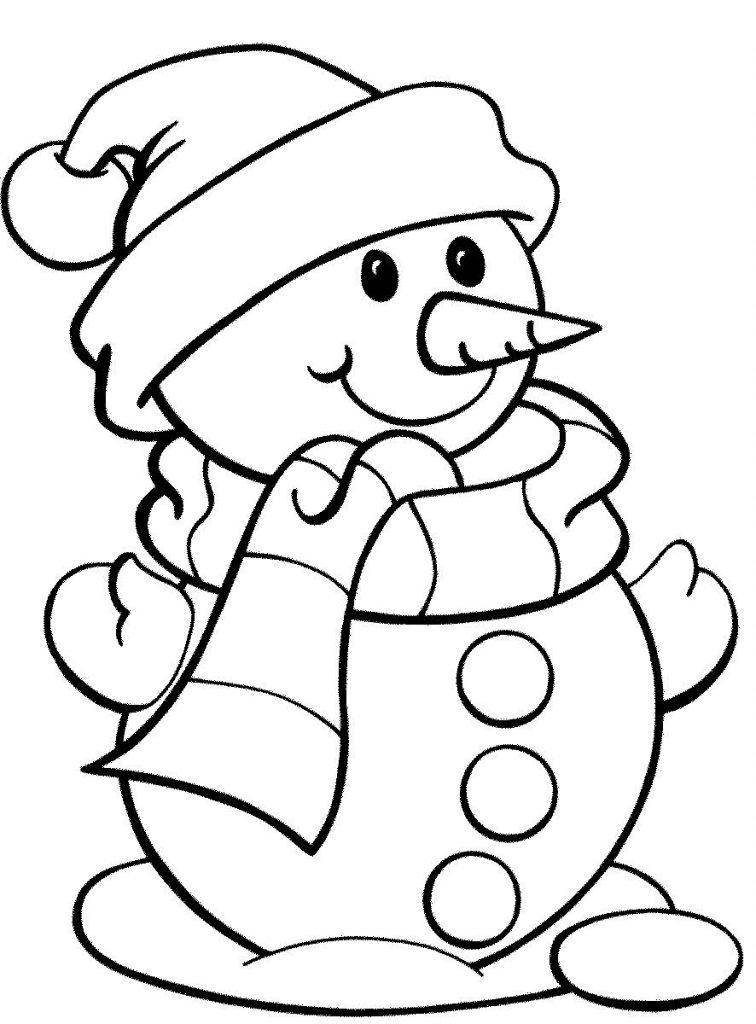 Красивые и милые рисунки снеговиков (24)