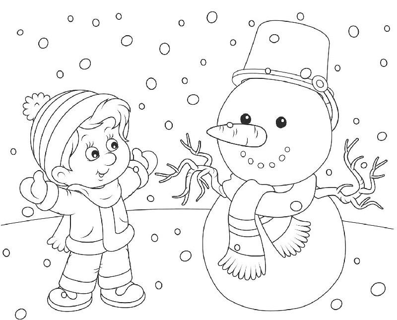Красивые и милые рисунки снеговиков (25)