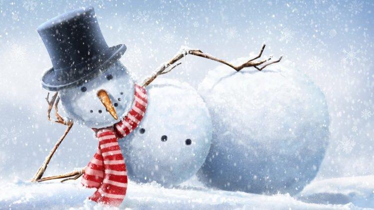 Красивые и милые рисунки снеговиков (4)