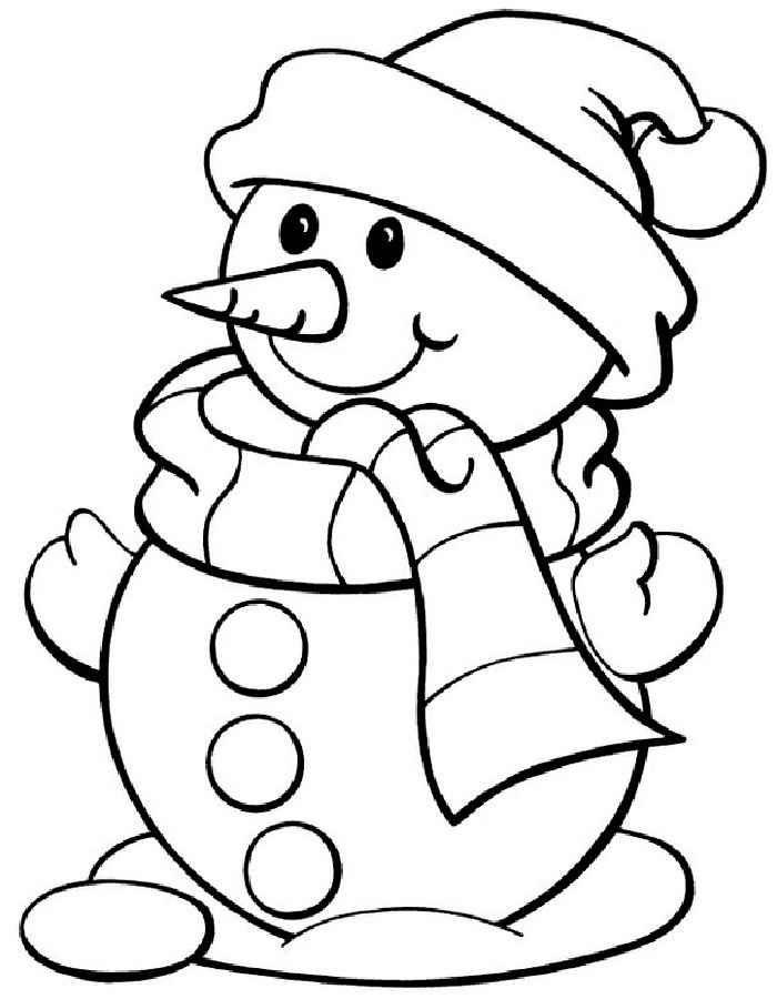 Красивые и милые рисунки снеговиков (5)