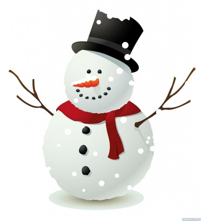 Красивые и милые рисунки снеговиков (7)