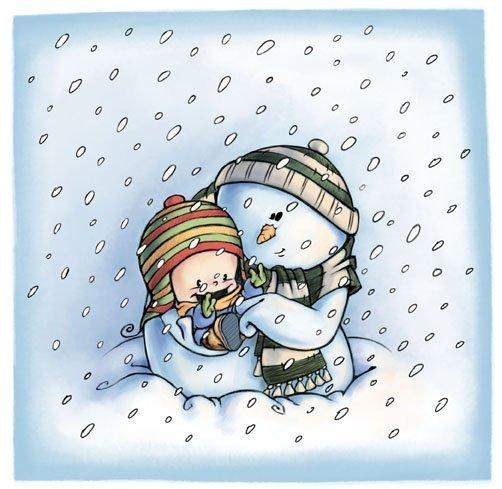 Красивые и милые рисунки снеговиков (8)