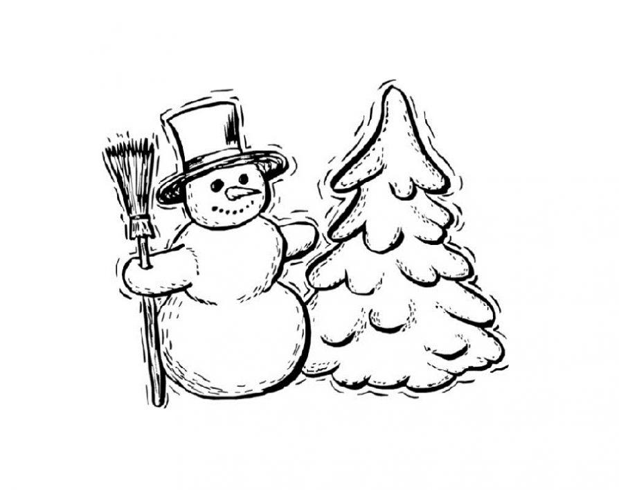 Красивые и милые рисунки снеговиков (9)