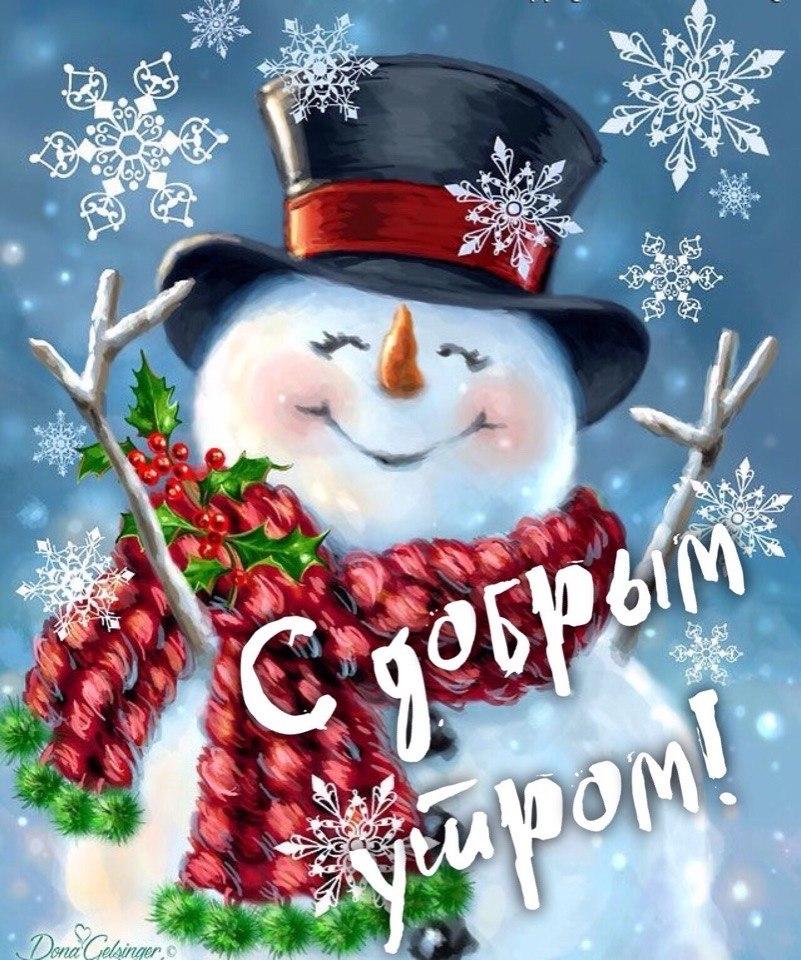 Картинки с добрым утром веселые для настроения зимние