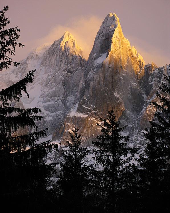 Открытка с горой