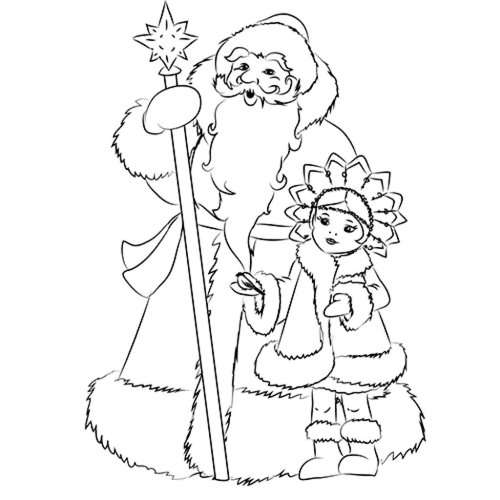 рисунок деду морозу на новый год карандашом что каждый