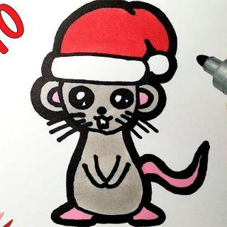 Красивые картинки про Новый год крысы 2020 для срисовки (11)