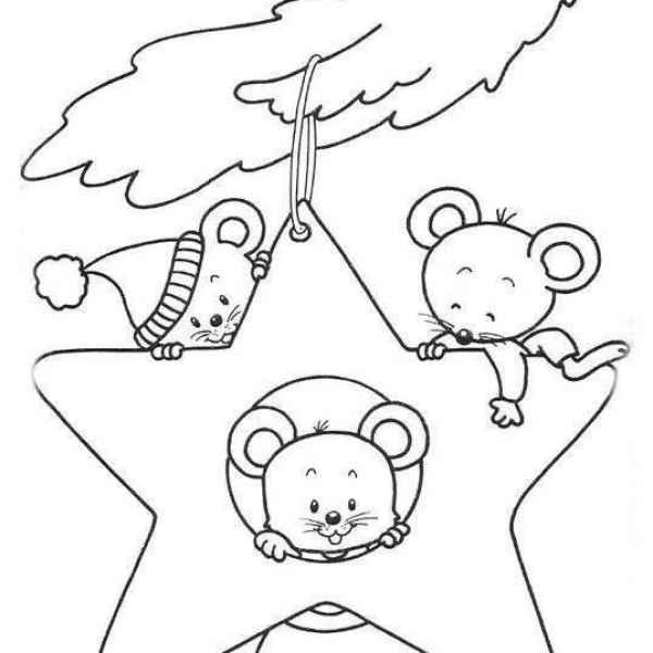 Красивые картинки про Новый год крысы 2020 для срисовки (22)